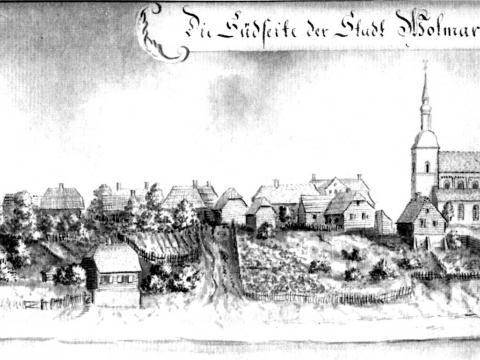J.H. Broce. Valmieras prospekts no Dienvidu puses 1799.