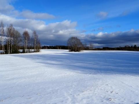 Rīgas kalns. Skats no R malas. 2017.gada 25.februāris. Edgara Žīgura foto