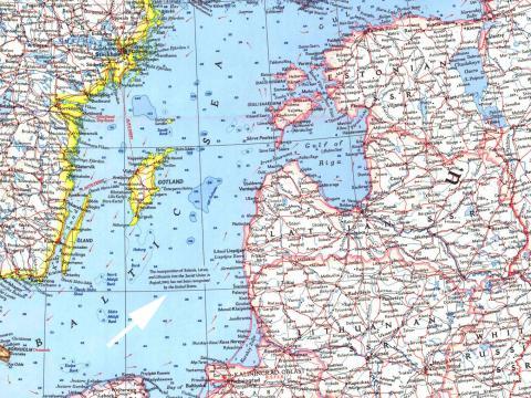 Scandinavia. Karte - pielikums žurnālam National Geographic Magazine, April 1963.