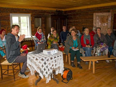"""Edgara Žīgura priekšlasījums """"Vecsaimniecība kā lauku kultūrvēsturiskās ainavas pamatelements."""""""