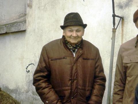 Romāns Dūnis. Viens no pēdējiem viņa fotouzņēmumiem. Foto 2006.g