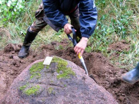 Oģēnu meža krustakmens. Vaidavas pagasts. 2007.g. 20.septembris. Daiņa Ozola foto.